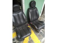 BLACK LEATHER SEATS & DOOR PANELS FOR FORD COUGAR