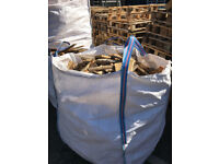 Bags of loose wood perfect for kindling or just firewood