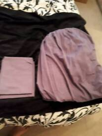 KINGSIZE BEDDING PURPLE FITTED SBEET & PILLOWCASES