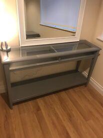 Ikea Grey console table