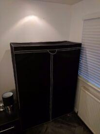 Black double canvas wardrobe