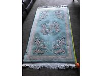 Rug-Authentic Chinese 100% Pure wool, 5ft x 3ft - good condition