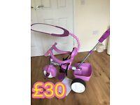 Little tikes 3 in 1 trike purple & Vtech walker