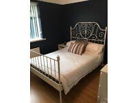 Standard Double Bed & Mattress