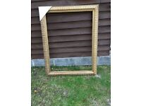 Huge Picture Painting Wood Gilt Gold Frame 94cm x 120cm Mirror etc