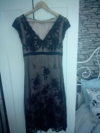 Black lace three quarter length dress from John Lewis