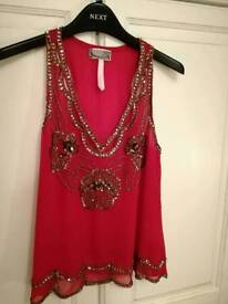 Size 10 - Lipsy Embroidered Tops £10 each or both for £15