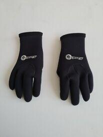 Osprey Wetsuit Gloves, 3mm Neoprene surfing, diving, water sports gloves - Size M
