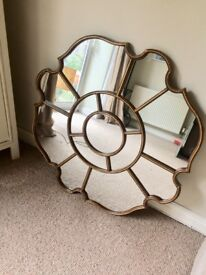 Ornate French-Style Antique Gold Mirror