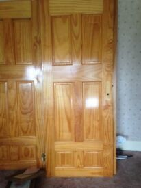 Solid pine doors x4