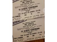 The Streets Tickets Birmingham 19th April X2
