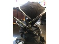 ICandy Peach Pram with Seat Unit and Carrycot and ICandy Footmuff