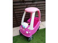 Pink Little Tikes car