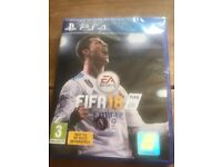 Sealed PS4 fifa 18 brand new unwanted gift