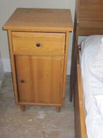 2 wooden bedside tables