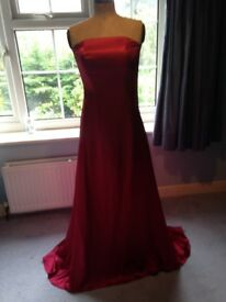 Stunning Prom Dress Bridesmaid Evening Gown Ruby Red Small Ladies