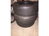 3 barely used 235/55/17 continental tyres