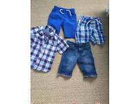 3 pairs of boys shorts age 5 and a shirt age 5