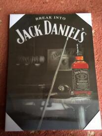 Jack Daniels wooden holographic pictire