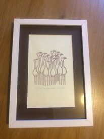 Flamingo Print with frame £5 13 x 9.5 inches