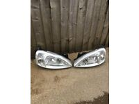 Corsa c 2005 head lights the pair fit 2001 to 2005 07594145438