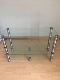 Optimum AV Stand. Four glass shelves