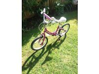 Child's BMX style bicycle Suit 6-9 years approx. Pink frame