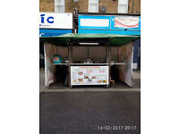 Stainless steel mobile catering retail unit/kiosk/bar
