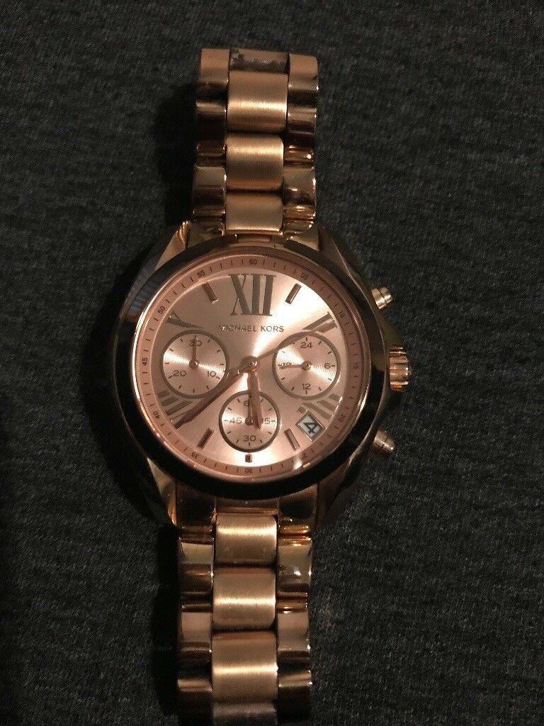 2e50689717cb Genuine Michael Kors Bradshaw Mini Chronograph Watch Rose Gold ...