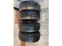 4 x transit van tyres - 215 x 65 x 15 WITH TRIMS! MUST SEE!!