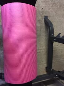 Pink yoga mat - only used a couple of times in home.