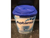 1 unopened tin of Aptamil first infant milk 1