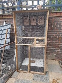 6ft Tall Birdcage/Bird aviary, 3ft square base