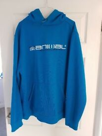 Lovely Blue Animal Brand Hoodie XL