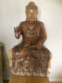 Wood Oriental Buddah