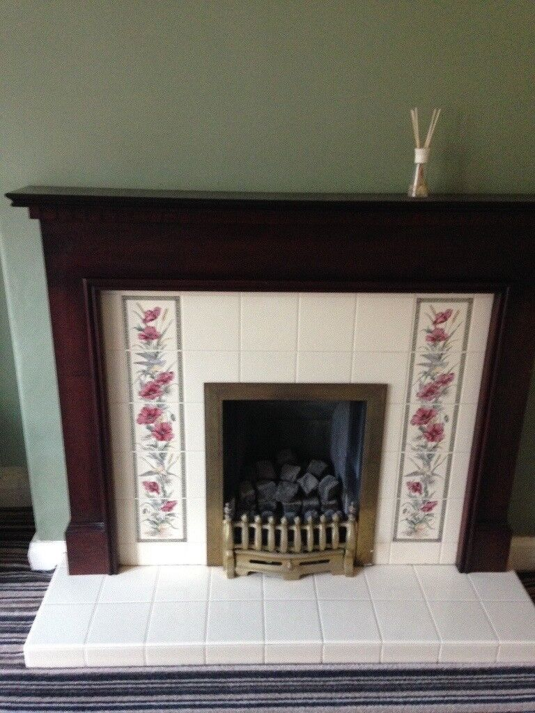 Wooden Fire Surround and Free Gas Fire