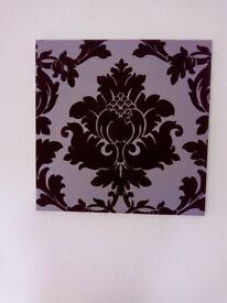 Purple velvet canvas medium size