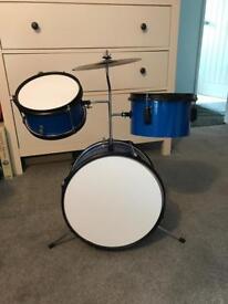 Drum kit with sticks