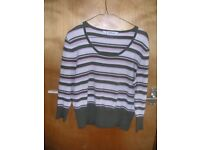 Kaleidoscope striped top - size 16