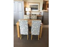 Oak Furniture Land Table & Four Chairs