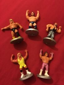 Wwf hasbro mini figures