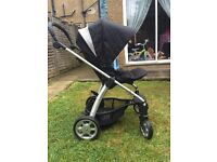Mamas & papas sola pushchair/stroller/buggy with carry cot