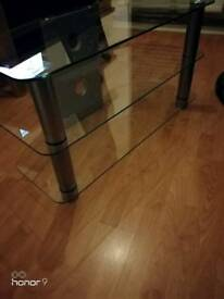 """Glass tv stand 37"""" width 20"""" height"""