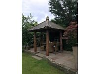 Indonesian Heavy Wood Gazebo £600 Reduced to £500
