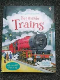 Usborne Books NEW x 4 see Inside Trains/Ships/Head/Underground