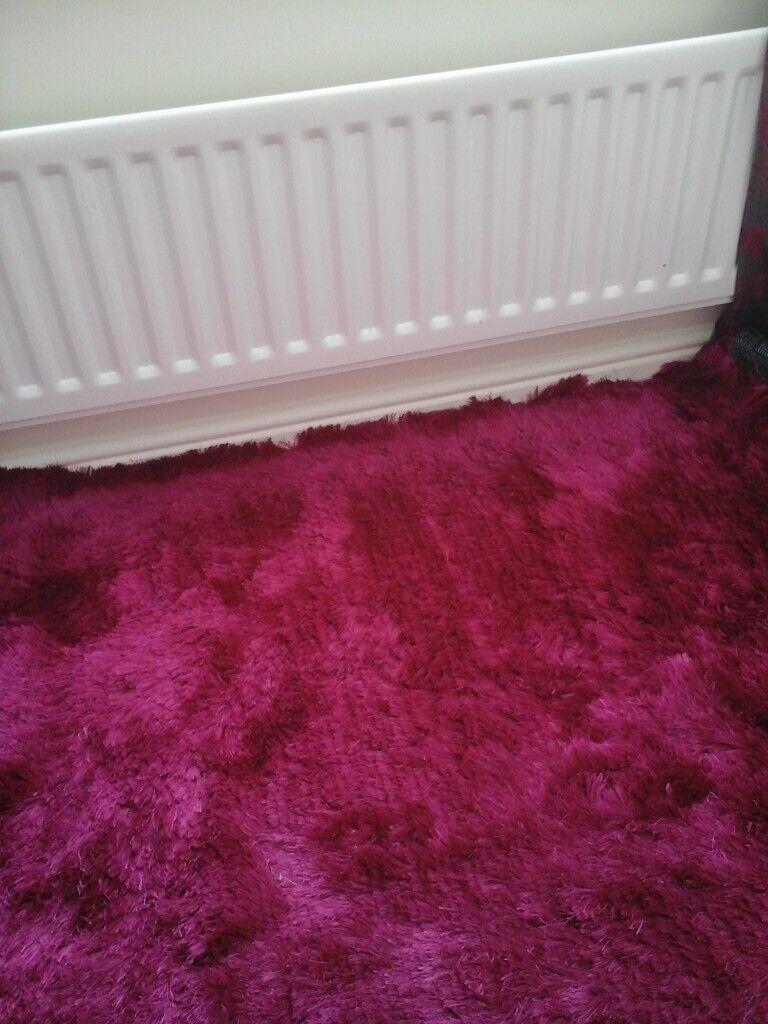 Lovely Cerise Pink Large Rug