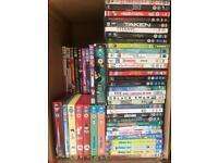 Job lot of DVDs.