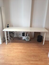 White Ikea Long Thin Table.