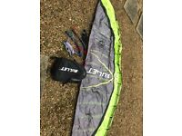 Flexifoil Bullet 2.5m Power Kite complete with lines and handles