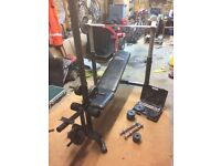 weights bench and accessories